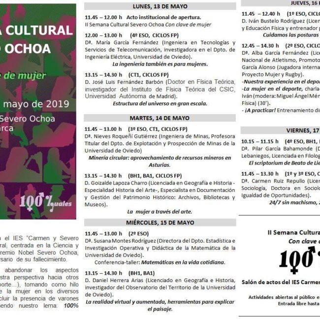 II Semana Cultural Severo Ochoa
