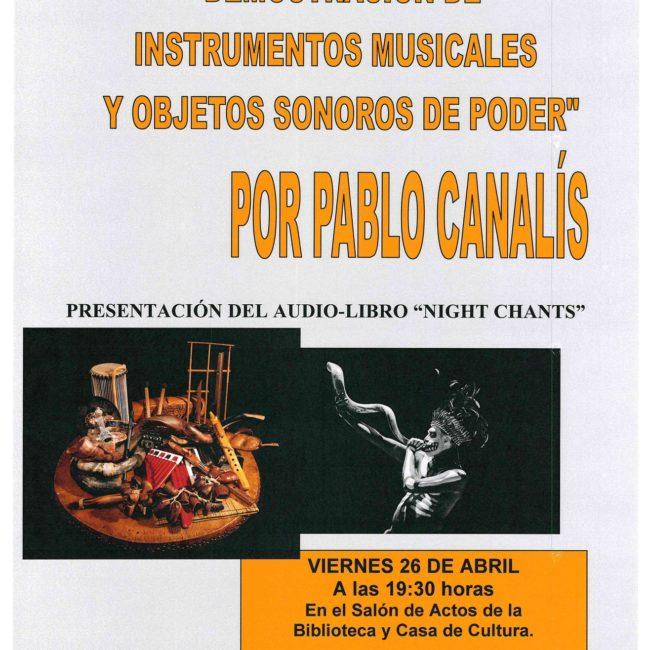 Demostración de instrumentos músicales por Pablo Canalís