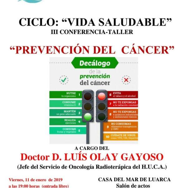 """Conferencia: """"Prevención del Cancer"""""""