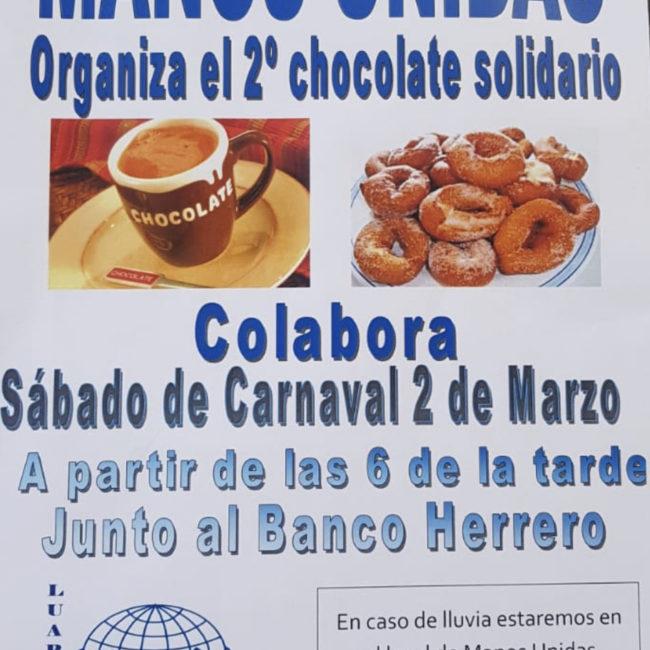 Chocolate solidario de Manos Unidas