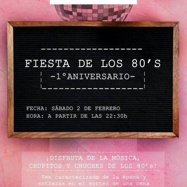 Fiesta de los 80. Primer Aniversario Marimorena