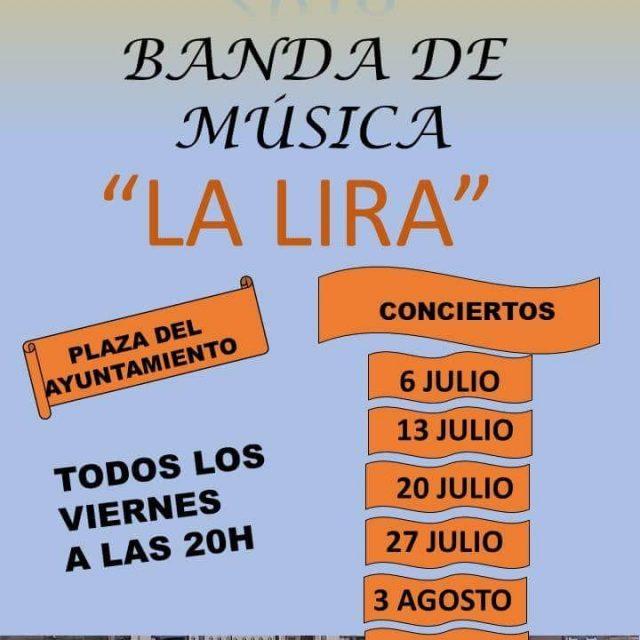 """Conciertos de verano 2018 la de banda de música """"La Lira"""""""