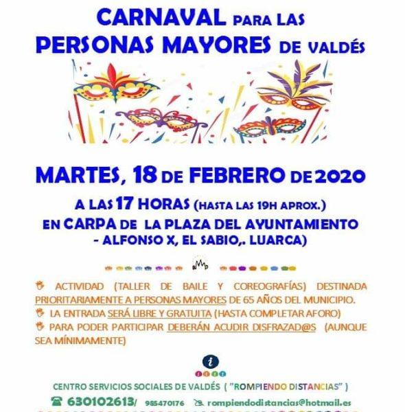 Carnaval para personas mayores de Valdés