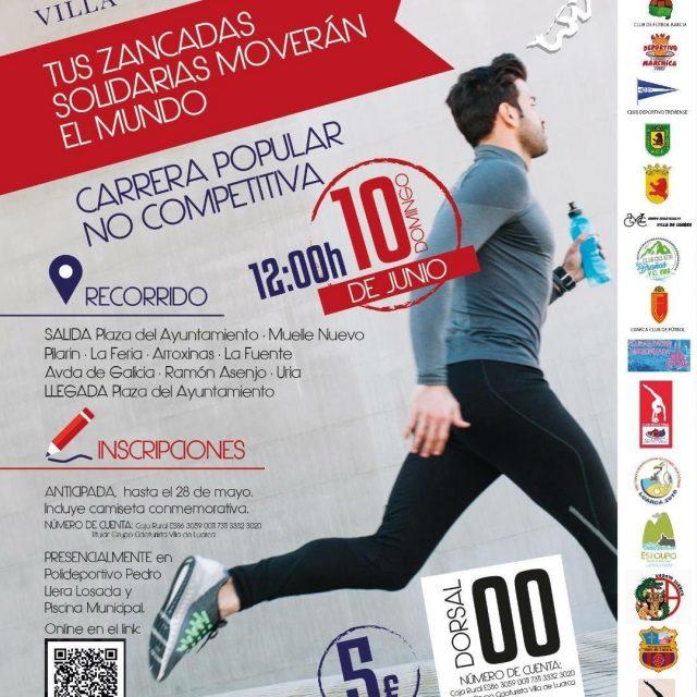 Zancadas solidaria en Luarca contra el cancer