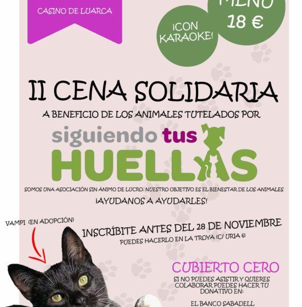 II Cena solidaria 'Siguiendo tus huellas'