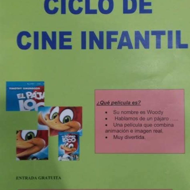 """Ciclo infantil de Cine: """"El pájaro Loco"""""""