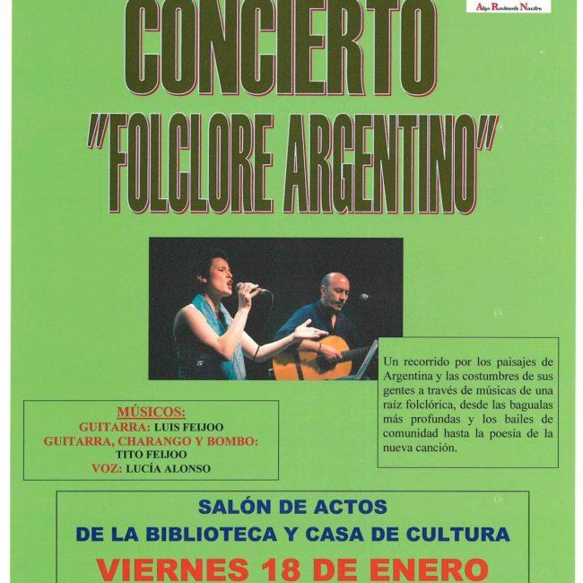 Concierto «Folclore Argentino»