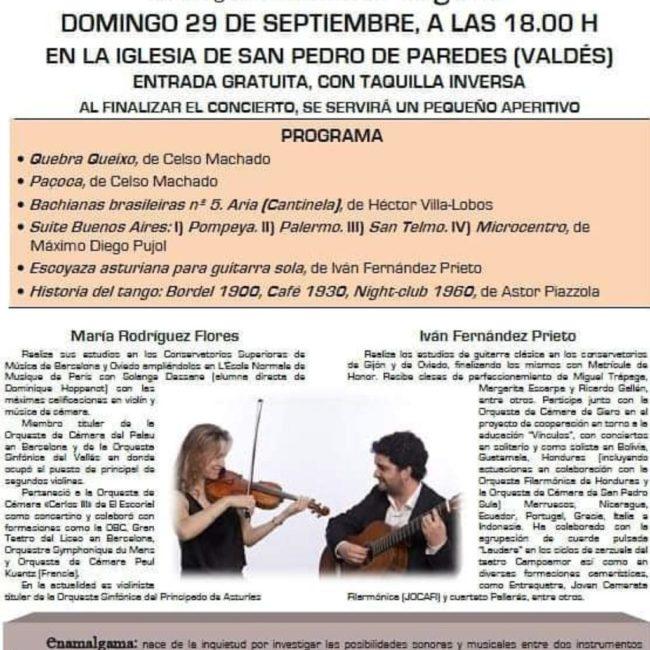 Concierto violín y guitarra en San Pedro de Paredes