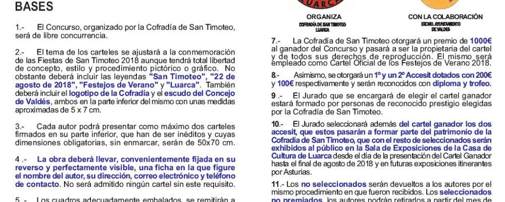 Concurso de carteles de San Timoteo 2018