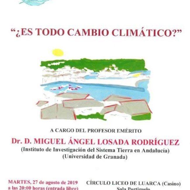 Conferencia: ¿Es todo cambio climático?