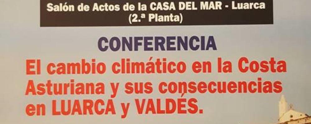 Conferencia «Cambio climático en la costa asturiana y sus consecuencias en Luarca y Valdés»