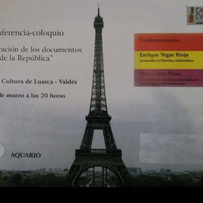 """Conferencia """"Recuperación de los documentos de la República"""""""