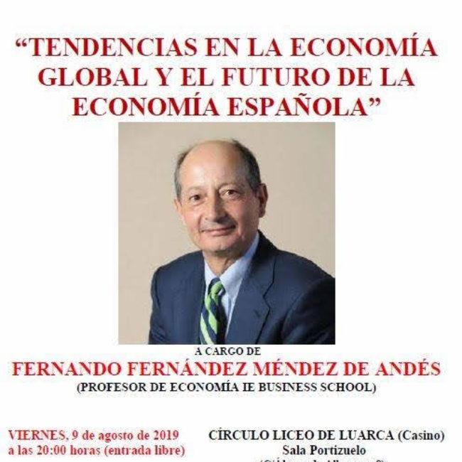 """Conferencia """"Tendencias en la economía global y el futuro de la economía española"""""""