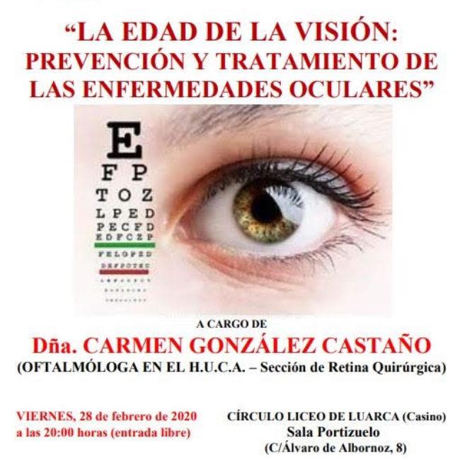"""Conferencia: """"La edad de la visión: prevención y tratamiento de las enfermedades oculares"""""""