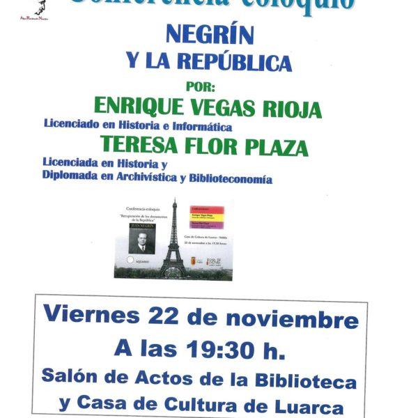Conferencia-coloquio 'Negrín y la republica'