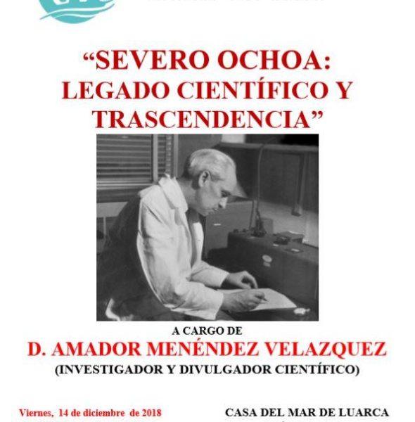 """Conferencia: """"Severo Ochoa: Legado científico y trascendencia"""""""