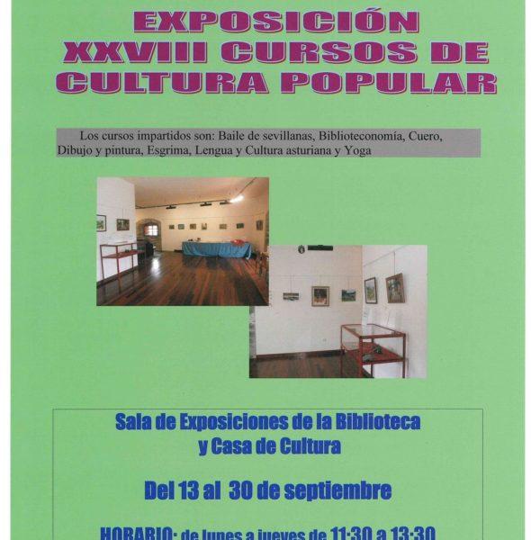 Exposición XXVIII cursos de cultura popular