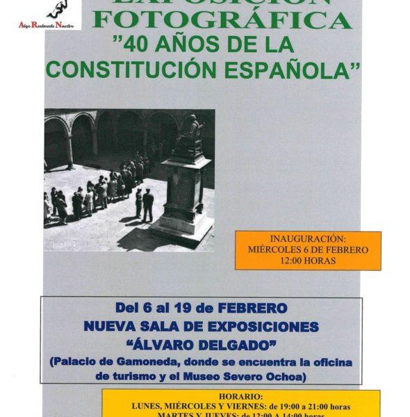 """Exposición fotográfica """"40 años de la Constitución Española"""""""