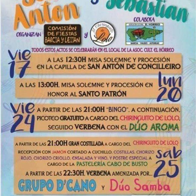 Fiestas de San Antón y San Sebastián en Barcia