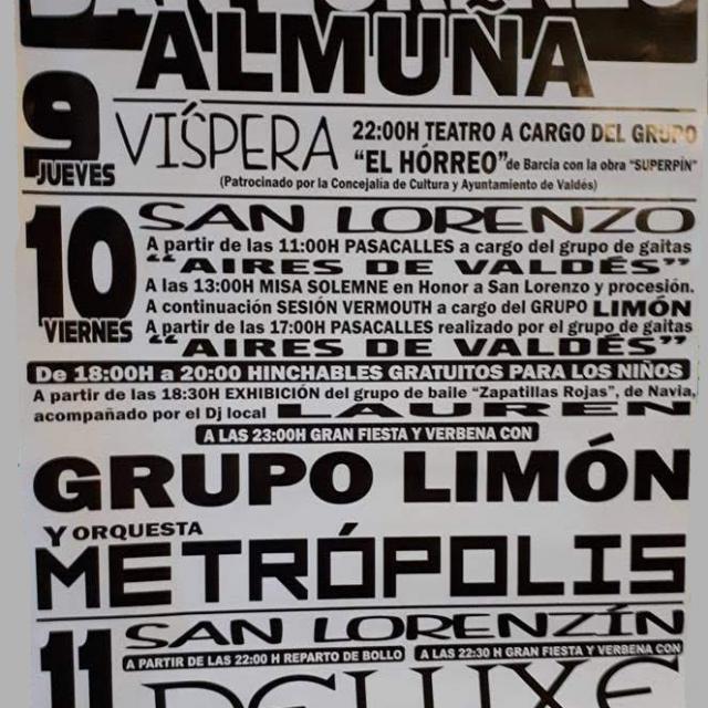 Fiestas de San Lorenzo en Almuña 2018