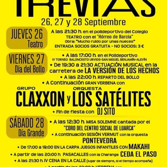 Fiestas de San Miguel 2019 en Trevías