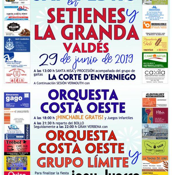 Fiestas de San Pedro en Setienes y La Granda
