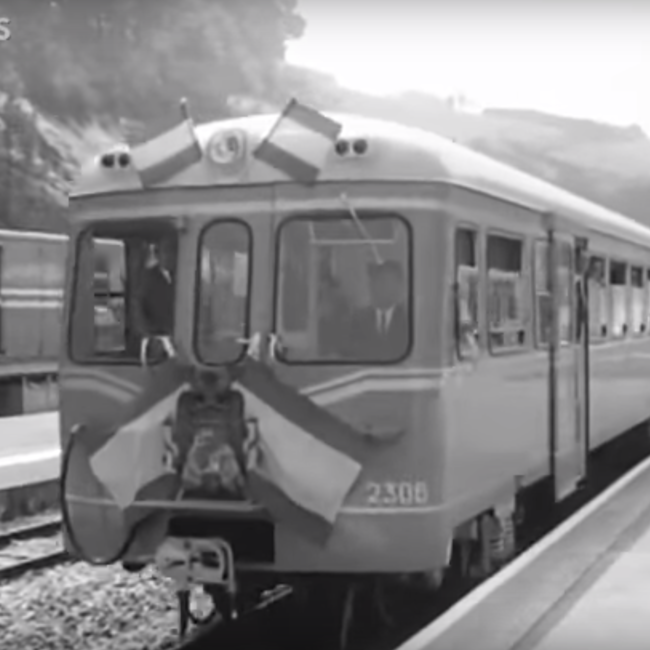 Inauguración ferrocarril Vegadeo-Luarca