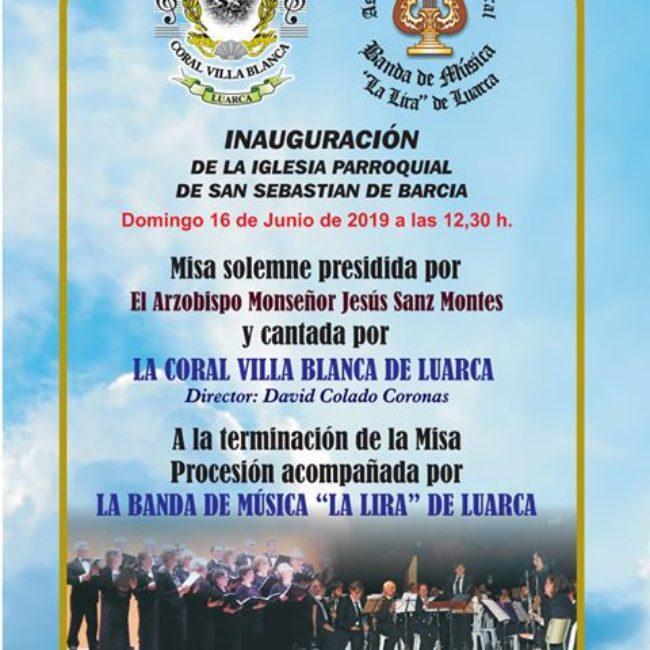 Inauguración de la Iglesia Parroquial de Barcia