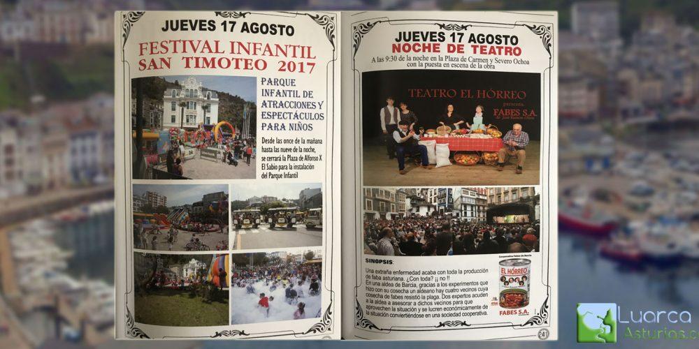 Fiestas de San Timoteo: Jueves 17 de Agosto 2017