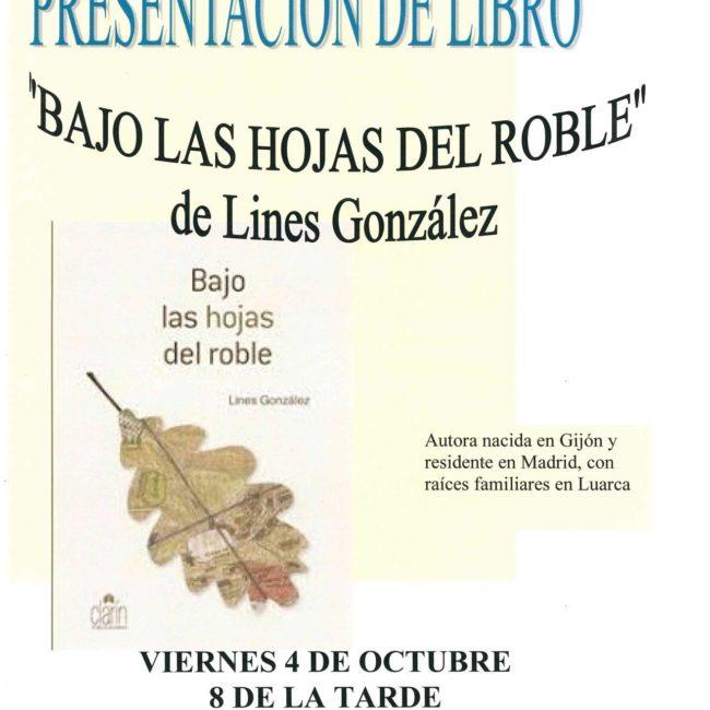 Presentación del libro 'Bajo las hojas del roble'