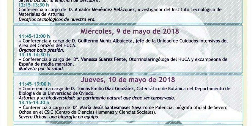 I Semana Cultural Severo Ochoa