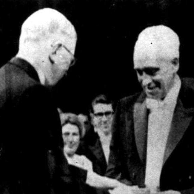 Entrega Premio Nobel a Severo Ochoa