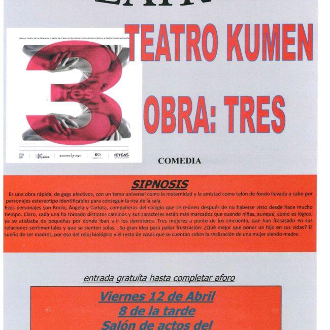 Teatro Kumen: «Tres»