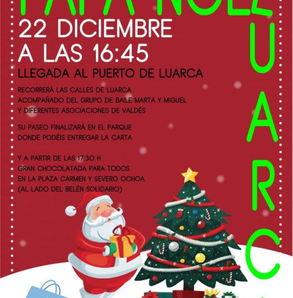 Visita de Papá Noel a Luarca